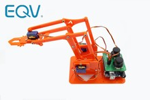 Eqv 4 Dof Unassembly Acryl Mechanische Arm Robot Manipulator Klauw Voor Arduino Maker Leren Diy Kit Robot(China)