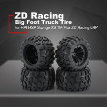 ZD Racing Nieuwe 4PCS 1/10 Monster Truck Big Foot Truck Tire & Wiel Speelgoed wiel voor HPI HSP Savage XS TM Flux ZD Racing LRP(China)