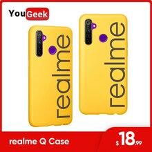 Originele Realme Q 5 Pro Case Pu + Tpu Scratch Proof Ontwerp Voor Camera, screen Escort Anti Val 3D Hot Persen