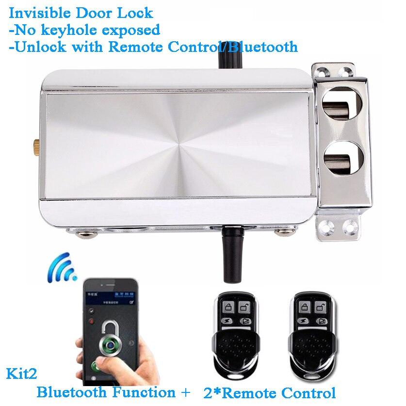 Smart Home Bluetooth Lock Remote Control Wifi Ewelink Phon APP Invisible Electric Door Lock Battery Keyless Gateway