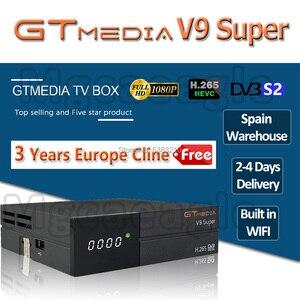 1080P Full HD GT media V9 Super Europe Cline for 3 Years Satellite TV Receiver H.265 WIFI Same DVB-S2 GTmedia V8 NOVA Receptor(China)
