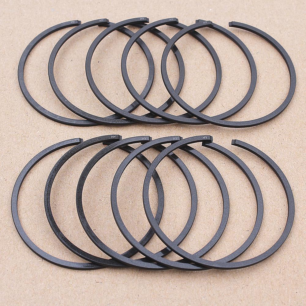 10pcs/lot 50mm X 1.5mm Piston Ring For Husqvarna 268 268XP 268K 66 266 371 372 STIHL 038 SW 038 FB 044 MS440 Chainsaw Parts