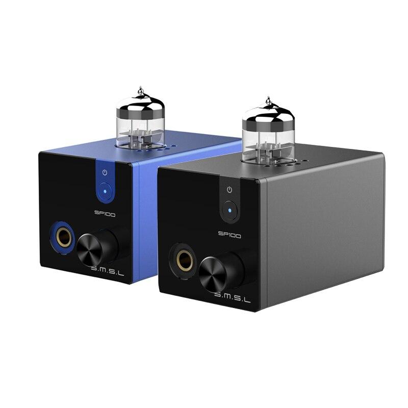 SMSL SP100 Tube Hoofdtelefoon Versterker 6N3 Buis Krachtige Hi End Stereo Amp Audio HiFi Output volumeregeling-in Hoofdtelefoon Versterker van Consumentenelektronica op  Groep 1