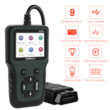 V311 OBD2 Scanner Handheld 4 Taal Backlit Lcd kleurenscherm Obd 2 Ii Auto Code Reader Car Diagnostic Tool