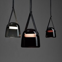 Modern Mona Glass Pendant Lights Led Belt Hanging Lamp for L
