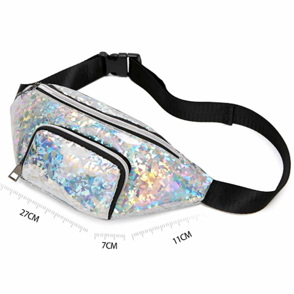 ファッション女性の肩ウエストパック手紙財布携帯電話のメッセンジャーバッグ Casuale ファニーパックガールボーイウエストベルト電話バッグ 2019