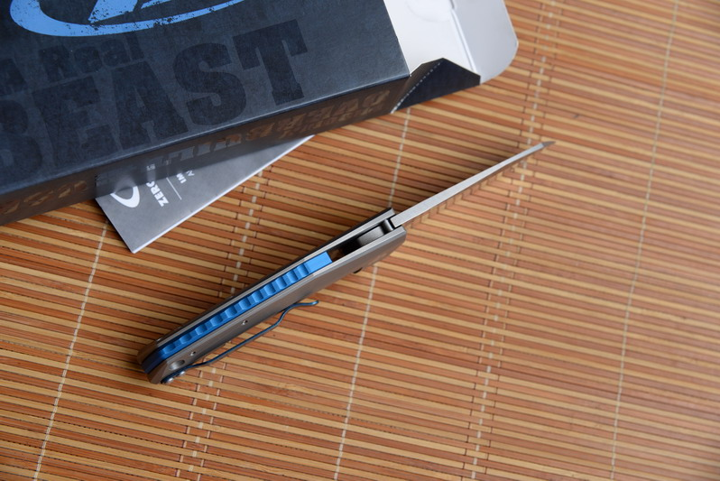 Survival Handle Folding Kitchen JUFULE Titanium Hunting D2 Blade Flipper  Knife EDC Tool Camp Pocket Bearing 0456BW Ball 0456