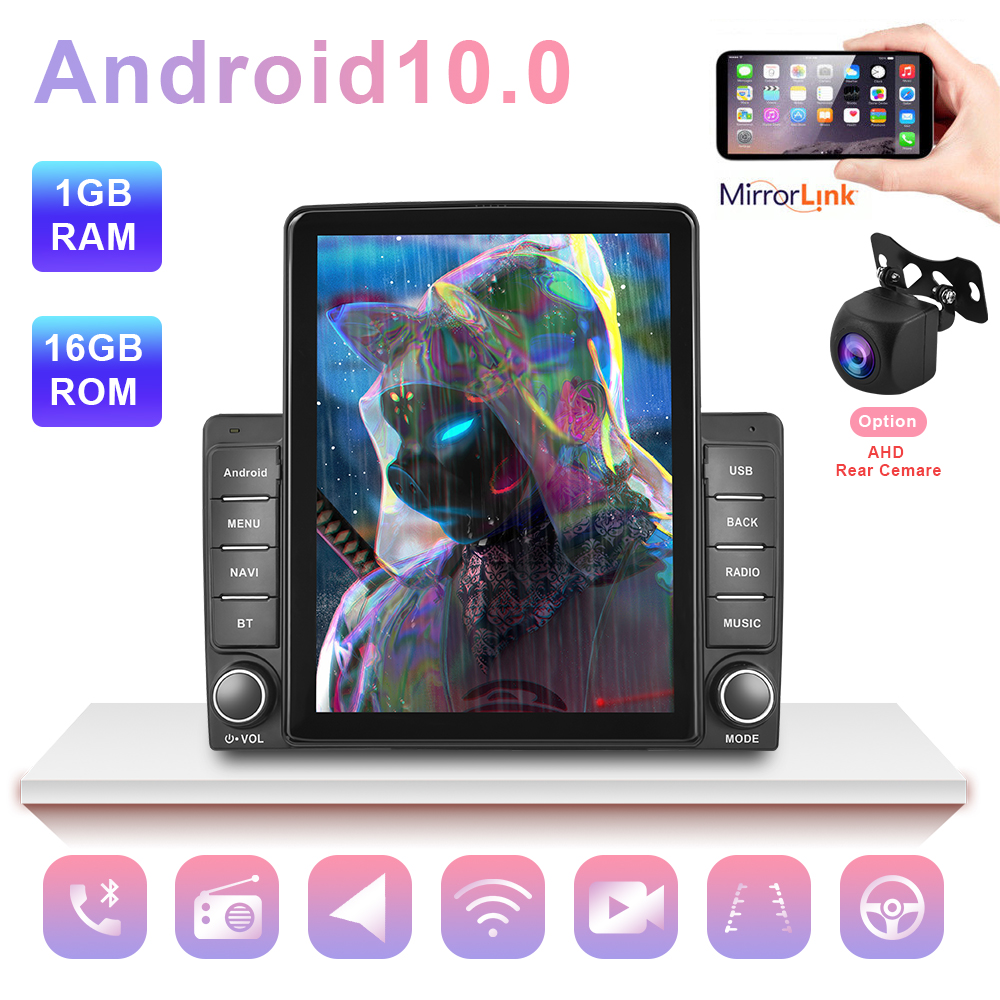 9.5'' HD Vertical Screen Univeral Car GPS Multimedia Video Radio Player 1+16G Android Car Stereo