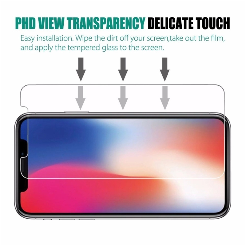 3PCS Clear Screen Protector Tempered Glass Case for iPhone 11 Pro XR XS MAX X 12