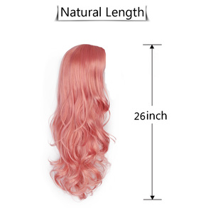 Image 5 - AISI QUEENS Synthetic Pink Wigs Long Wavy Wig for Women Black White Natural Free Parts Cosplay Hair Average Size