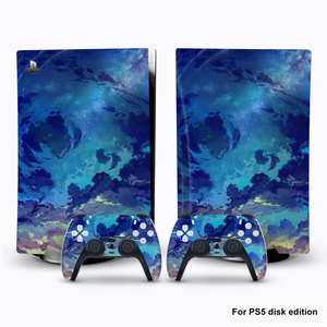 Image 2 - For PS5 Console Disk Edition Carbon Fiber Skin Decal Cover for PlayStation 5 Console Glaxy Sticker For PS5 Accessories