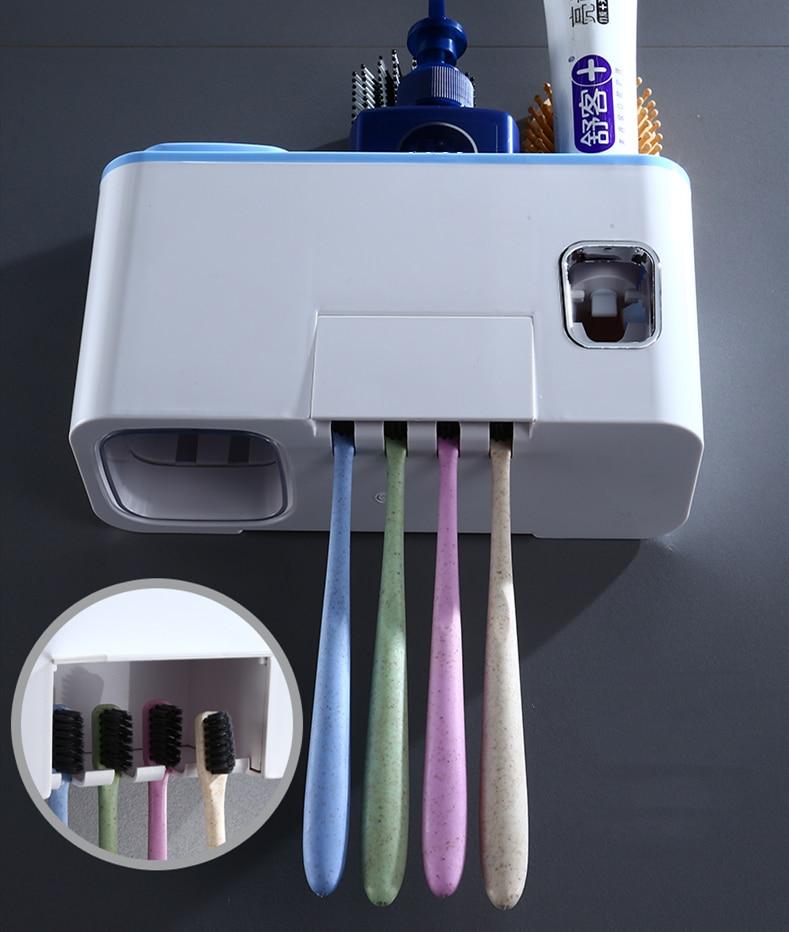 Suporte p escova e pasta de dentes
