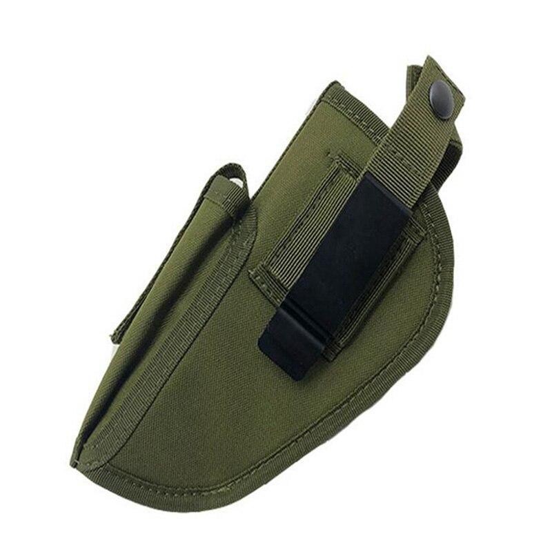 Tático universal coldre saco caso para golck 17 19 beretta m9 sig p30 22 cz75 esquerda mão direita coldre cinto clipe de metal adjustble