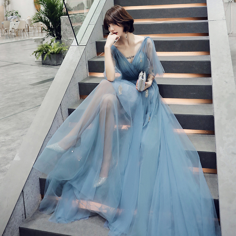 The New 2020 Dress Is Simple And Easy Party Long Thin The Evening Dresses Female Temperament