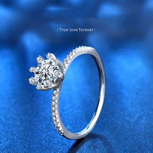 Classic Design Wedding Anniversary 1ct 2ct D Color Moissanite Ring