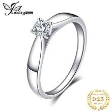 Jewelrypalace прекрасный 0.2ct Обручение пасьянс кольцо из натуральной 925 серебро родием ювелирных изделий для девочек