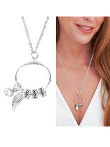 Pendant Necklace Name-Beads Birthday-Stone Personalise Custom Stainless-Steel Women Bohemia