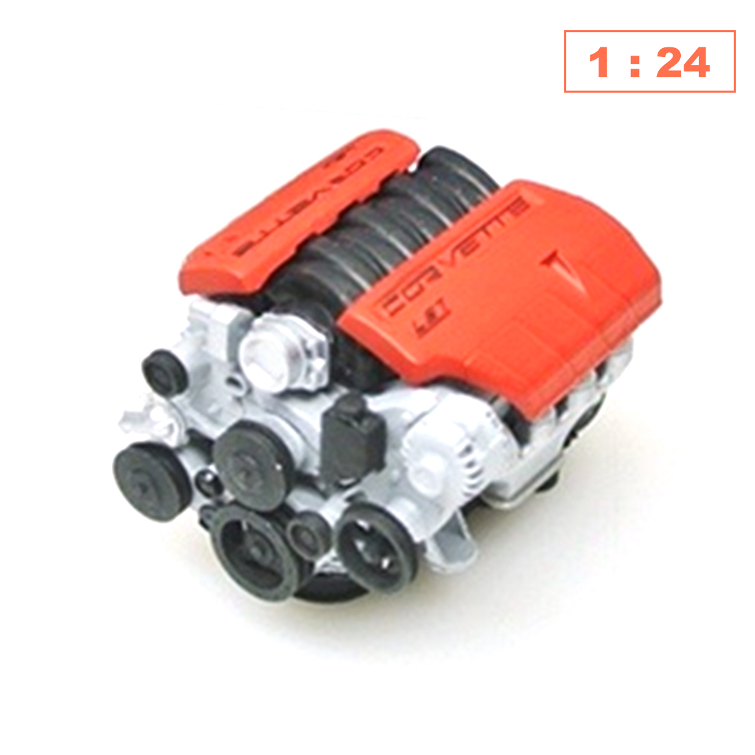 1:18 /1:10 /1:24 DIY Simulated Static Model Car Engine For Is7 Model Accessories -Black Red