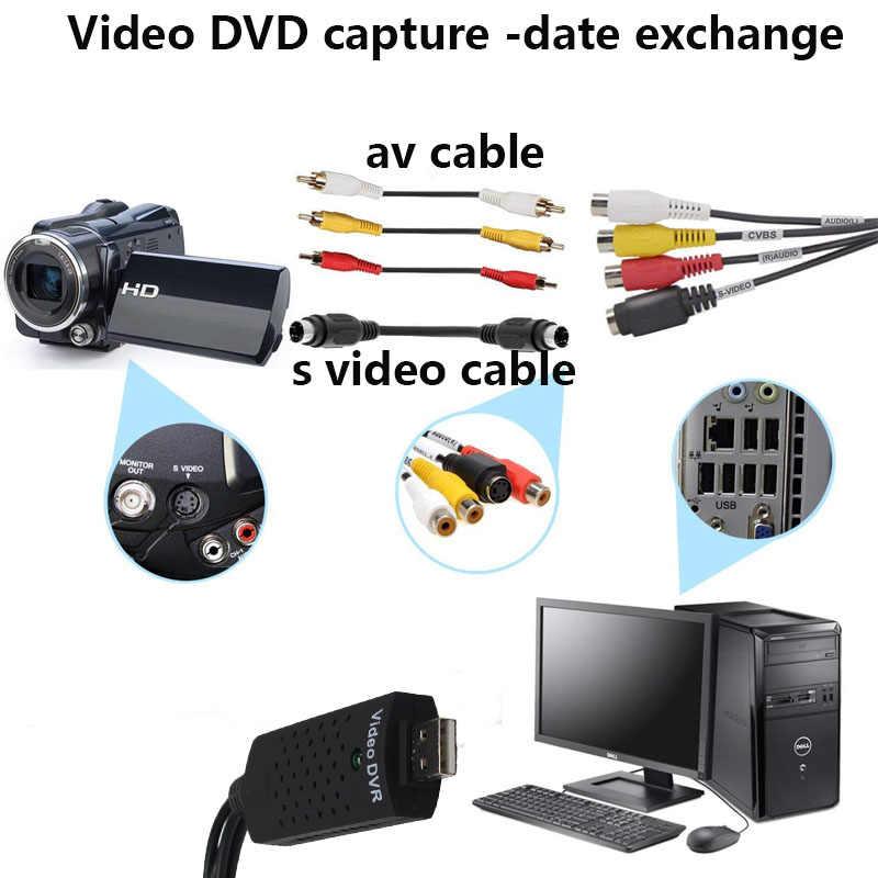 Wiistar Easycap USB 2.0 Menangkap Kartu Video TV DVD VHS Menangkap Audio Kartu