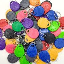 Étiquette RFID pour porte clés, copie inscriptible, 50pcs KHz, 125KHz, jeton, Badge de proximité, duplicata, modèle EM4305 T5577