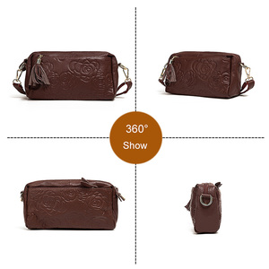 Image 5 - Bolsa de couro genuíno feminina mensageiro sacos bolsas de luxo bolsas femininas designer bolsa de ombro para as borlas crossbody saco