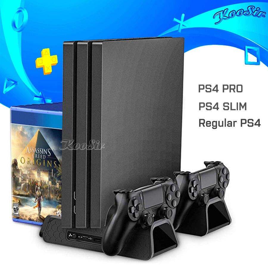 PS4 Sottile PRO Console Ventola di Raffreddamento Del Basamento PS 4 Controller del Caricatore Joystick Stazione di Ricarica per Playstation 4 Sottile Pro Giochi