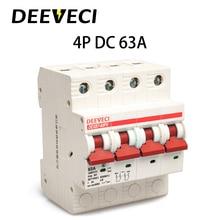 4P DC Solar Energy Photovoltaic PV breaker 6A 10A 16A 20A 25A 32A 40A 50A 63A micro circuit breaker 1200V mcb supplier