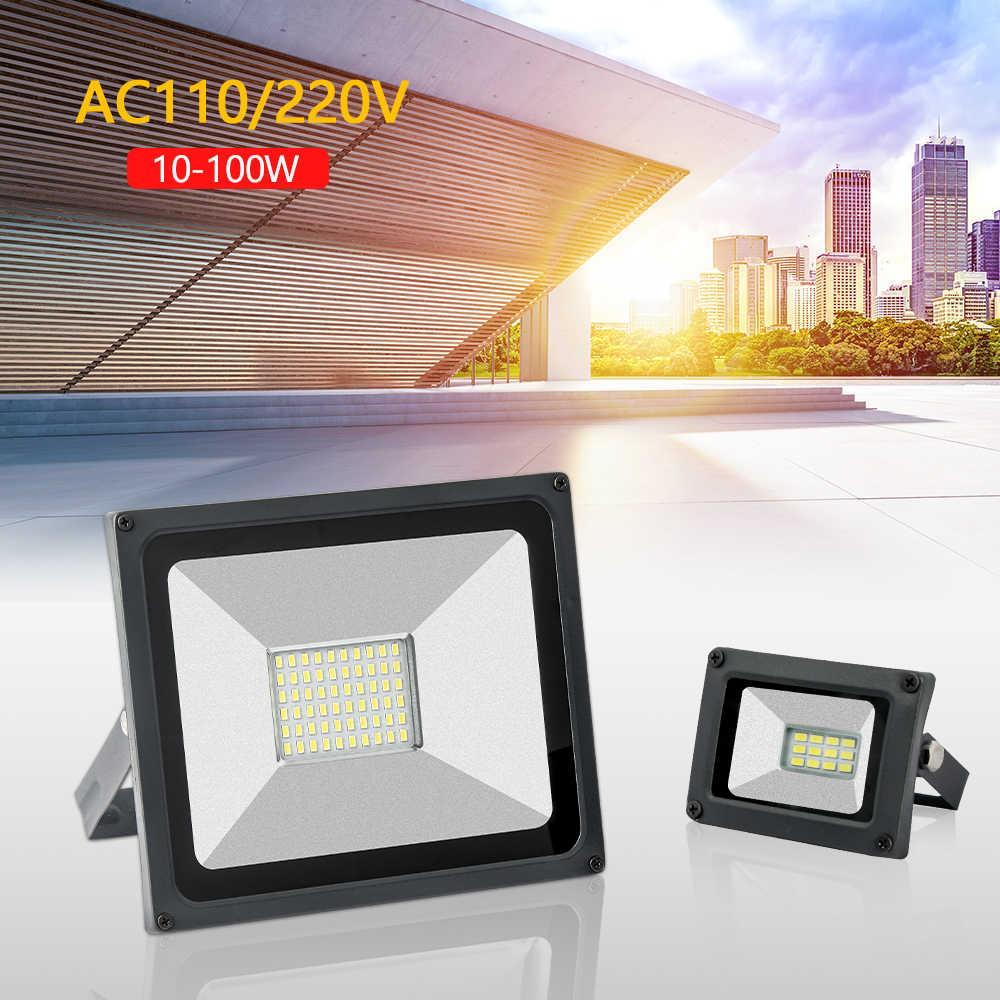 220V 110V luz Led de inundación al aire libre Reflector 30W 50W 100W 10W 20W Reflector de la lámpara de pared IP65 al aire libre Led proyector punto