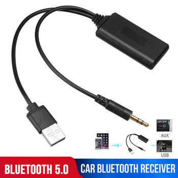 Music Bluetooth Adapter Cigarette Lighter Vehicles 3.5 Mm Jack Plug BT5.0 Aux Cable 3.5mm Car Radio USB Dongles for BMW E90 E91 image