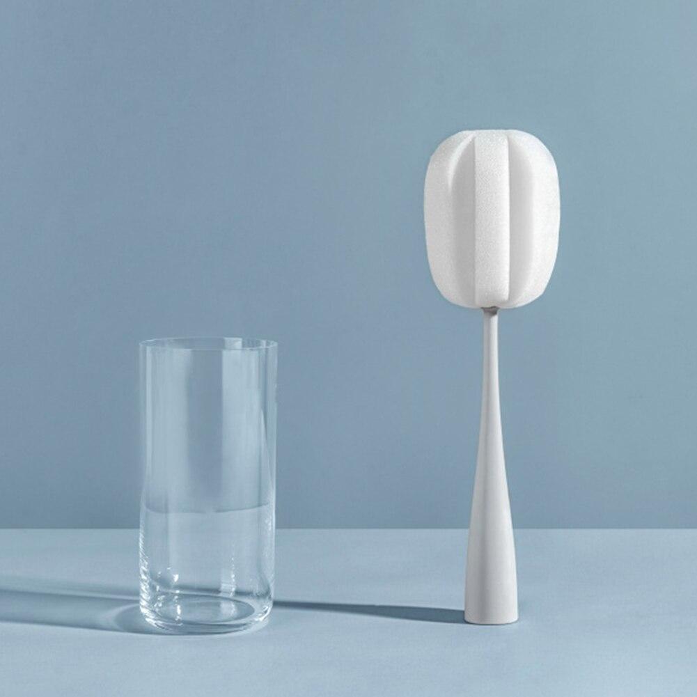 Punho longo copo de vidro lavagem garrafa escova cozinha ferramenta limpeza café livre pé para potes esponja casa bule suprimentos do bebê