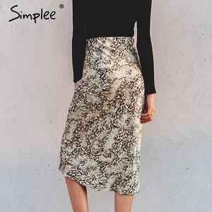 Image 3 - Simplee paski zebry damskie spódnica trzy czwarte wysokiej talii prosty nadruk zwierzęta kobiece dół spódnica wypoczynek nocna impreza klubowa spódnica damska