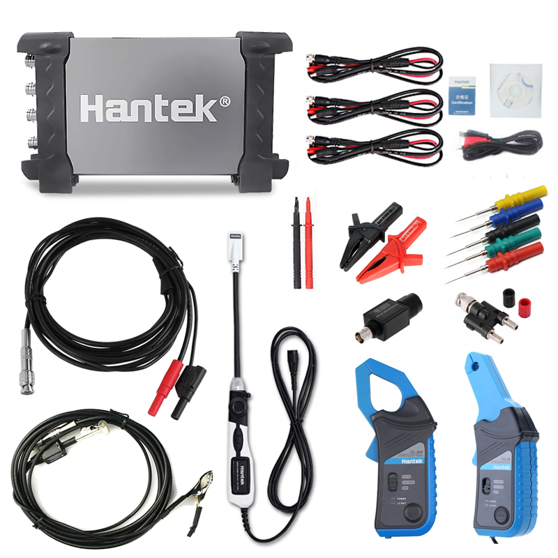 Hantek 6254BE Automotive Digital Diagnostic Oscilloscope USB PC 1GSa/s 250MHz 4CH Oscilloscope, equipped with HT25COP/CC65/CC650 image