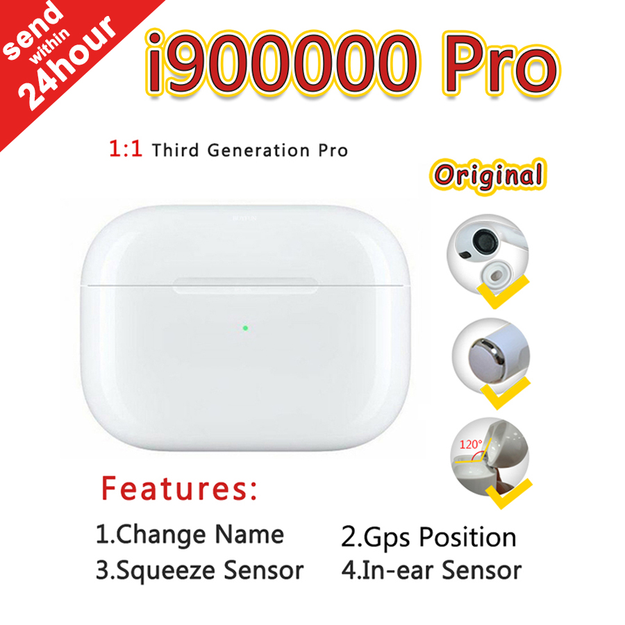 New I900000 Pro Air Pro3 TWS  1:1 Super Copy In Ear Wireless Bluetooth Earphone Pk W1 I500 I10000 I50000 I100000 I200000 Pro Tws