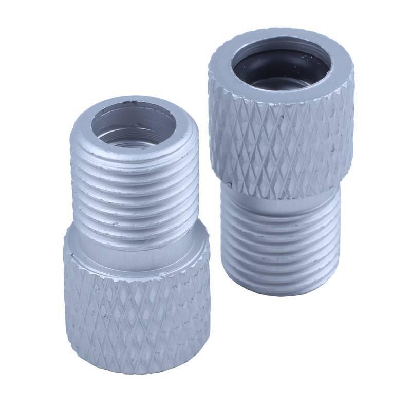 Semoic Lot de 2 adaptateurs de valve Presta vers Schrader en aluminium avec joint torique Bleu