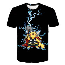 Summer 3D Printing Funny Pokemon Cartoon Pattern Kids Clothes Street Style Short Sleeve Cool And Breathable O-Neck Cool T-Shirts