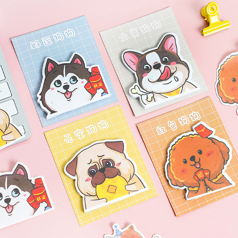 Cute Cartoon Animal Cat Dog Panda Sticky Notes Memo Pad Diary Stationary Flakes Scrapbook Decorative Kawaii N Times Sticky