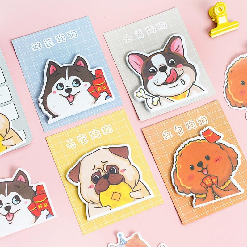 Cute Cartoon Animal Cat Dog Panda Sticky Notes Memo Pad Diary Stationary Flakes Scrapbook Decorative Kawaii N Times Sticky