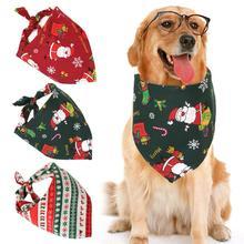 Bib Pet-Bandana Collar Pet-Ties Christmas-Party-Dress Cats Dogs Lovely Cute Cartoon