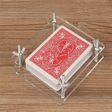 Crystal Card Press,Crystal Card Flatten Restore Deformation (not include playing card, magic tricks accessory,gimmick