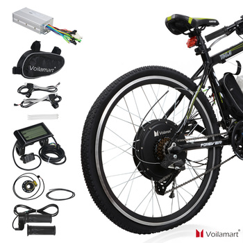 """Voilamart 28"""" 1000W Rear Wheel Electric Bicycle Conversion Kit Speed Hub Motor With LCD Meter"""