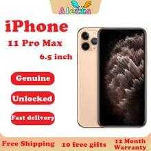 Apple – Smartphone iPhone 11 Pro Max 64 go/6.5 go/256 go débloqué, téléphone portable, écran de 512 pouces, reconnaissance faciale, NFC, A13 Super AMOLED, hexa-core