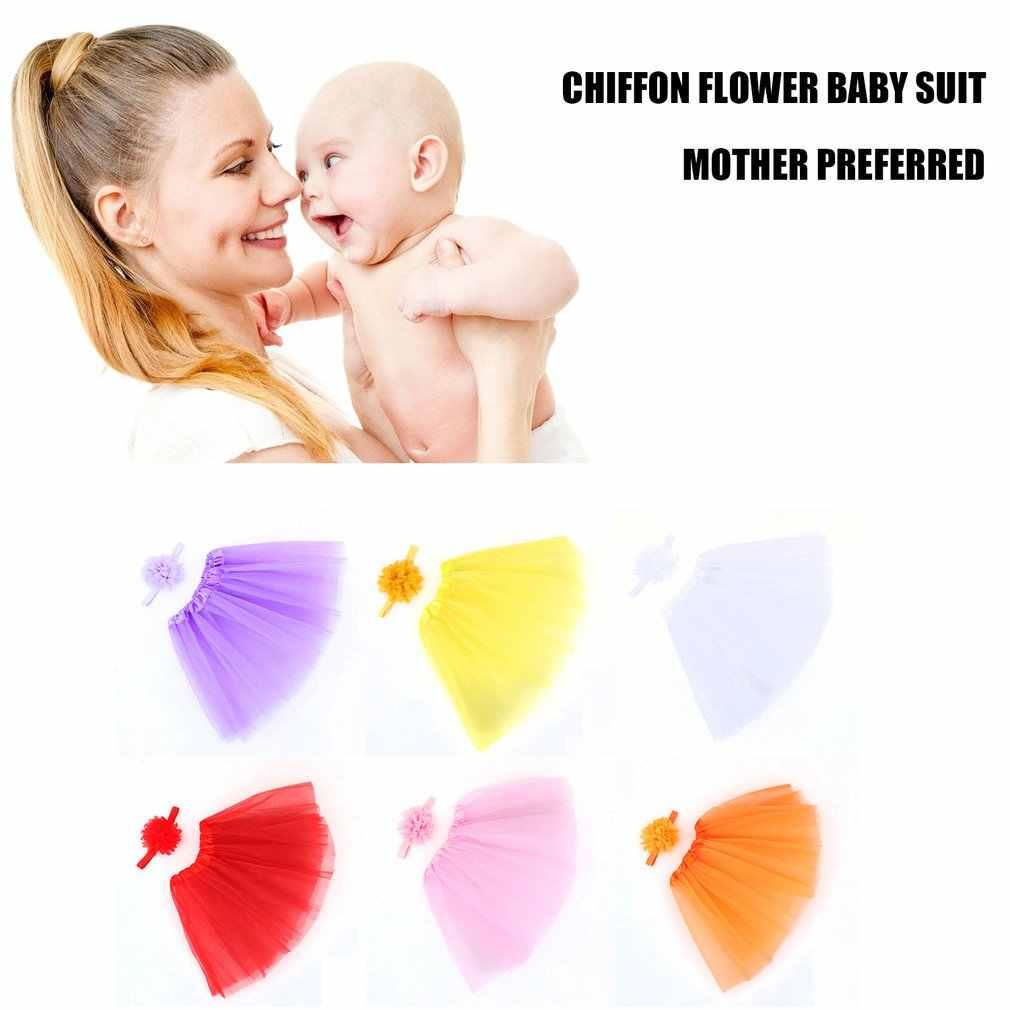 Outad bebê menina bandana + saia conjunto flor forma faixas de cabelo do bebê headdress recém-nascido fotografia adereços headwear vestido acessórios