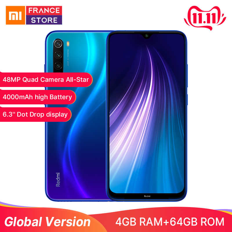 In Stock Redmi Note 8 Global Version Xiaomi 4GB 64GB Smartphone celular 48MP Cameras Snapdragon 665 6.3FHD 4000mAh 18W 4K Video