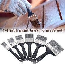 6-piece set of water-based paint, brush, brush, dust brush, roller brush, durable household industry
