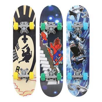 Popular 3 Style Maple Wood Pulley Wheel High Speed Complete Skateboard Skate Board Teenagers Hoverboard Deck Skateboard