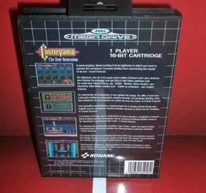 Image 2 - Castlevania ใหม่รุ่นEUพร้อมกล่องและคู่มือสำหรับSega Megadrive Genesisวิดีโอเกมคอนโซล 16 บิตการ์ดMD