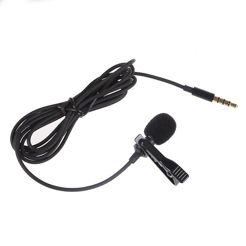 Lavalier Lapel Clip-on Omnidirectional Miniphone TRRS 3.5mm Jack Handsfree 3.28ft Condenser Mini Recording Mic For Apple IPhone