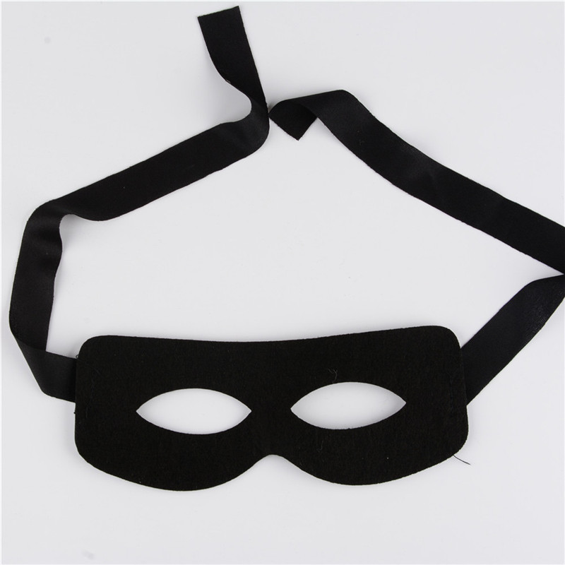Mascaras Halloween Men Zorro Cosplay Mask Black Fabric Halloween Props Carnival Party Mask Mysterious Masker Half Face Eye Mask