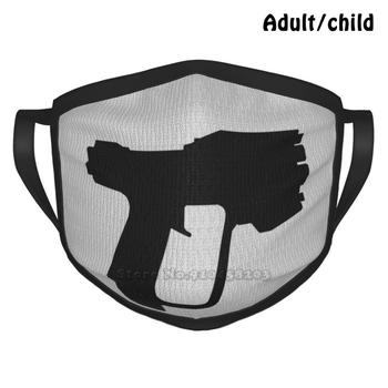 Pistol Fashion Print Funny Pm2.5 Reusable Face Mask The Master Chief Reach 1 3 Infinite Odst Marines United Nations Space image