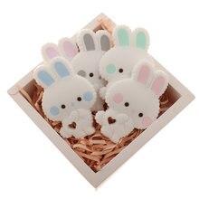 5 шт пищевого класса qhbc силиконовый кролик Прорезыватель для